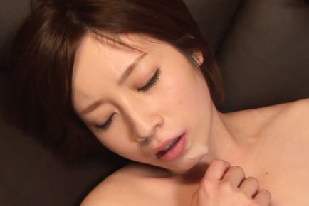 Saki okuda. Saki Okuda Asian gets cumshot on big round boobs after strong fuck