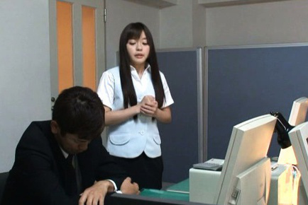 Mei hayama. Mei Hayama Asian has hot behind fondled by boss over stockings