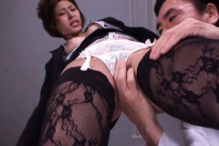 Akari asahina. Akari Asahina Asian is exciting on office and has nipples squeezed
