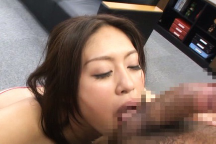 Kaori. Kaori Asian dame blowjob balls and wets couch after is