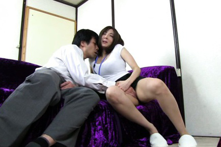 Japanese av model. Japanese AV Model busty has twat touched under office skirt