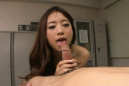 Japanese av model. Japanese AV Model has kitty licked from behind and licks shlong