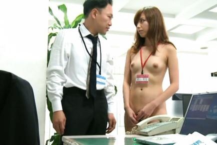 Miyuki yokoyama. Miyuki Yokoyama with push ups works naked and licks shlongs