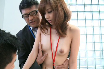 Miyuki yokoyama. Miyuki Yokoyama Asian with nasty tits serves tea to bosses nude
