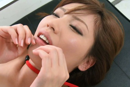 Miyuki yokoyama. Miyuki Yokoyama Asian on heels has boobs fondled while is screwed
