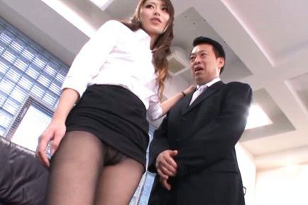 Ayu sakurai. Ayu Sakurai Asian in tight skirt has nooky rubbed with thong