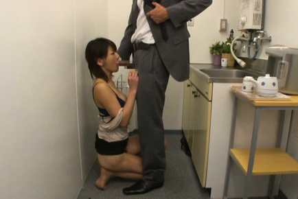 Yuki ooe. Yuki Ooe Asian blowjob boss cock and has her beaver fingered by him