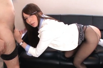 Jessica kisaki. Jessica Kizaki Asian with specs has nooky licked through nylon