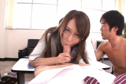 Jessica kisaki. Jessica Kizaki Asian with specs is doggy make love while cock sucking dong