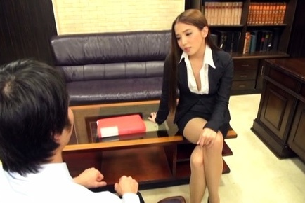 Ayaka tomoda. Ayaka Tomoda Asian spreads legs in stockings
