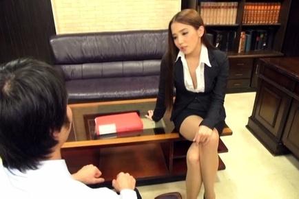 Ayaka tomoda. Ayaka Tomoda Asian spreads legs in stockings