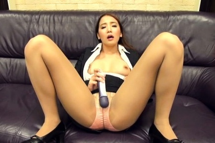 Ayaka tomoda. Ayaka Tomoda Asian plays with dildo on