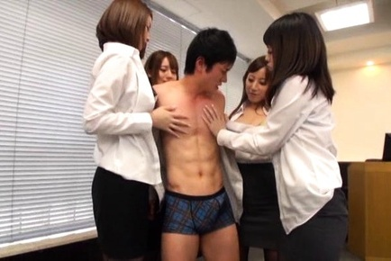 Riko honda. Riko Honda amazing office sex in nasty group